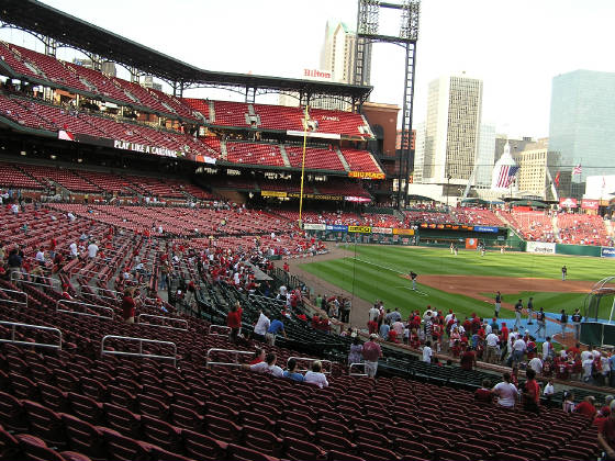 Looking towards LF - Busch Stadium
