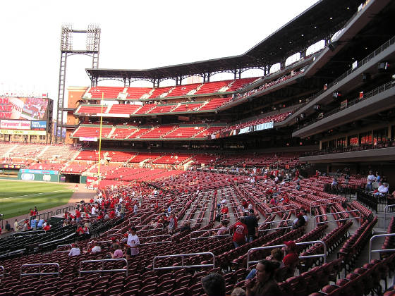 Looking towards RF - Busch Stadium