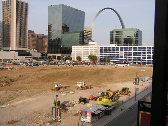 Where the old Busch Stadium stood