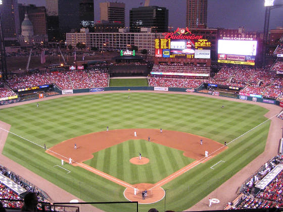 Dusk in St. Louis - Busch Stadium new