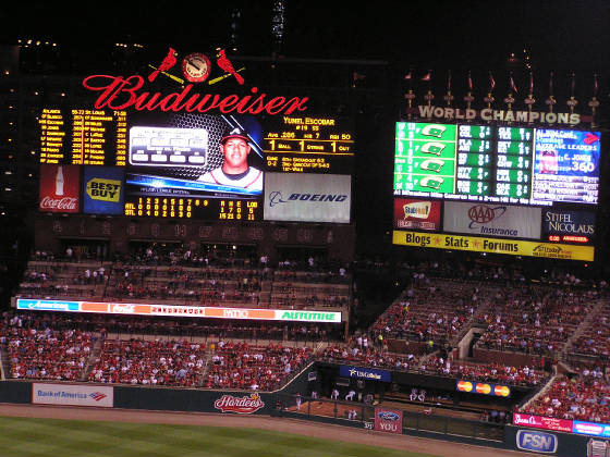 An Excellent Scoreboard in St. Louis