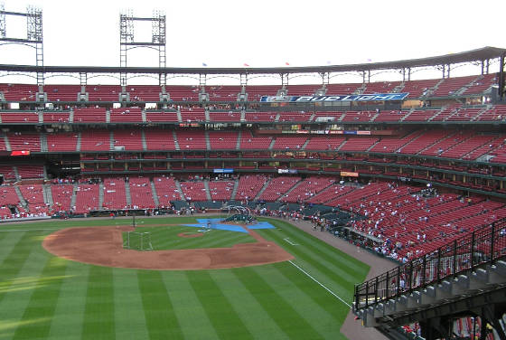 Looking in from left field - Busch Stadium