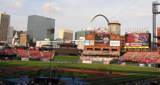Busch Stadium view - St. Louis Missouri